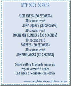 HIIT Work out